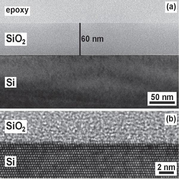 TEM观察到的氧化硅/硅结构-丰通丰创