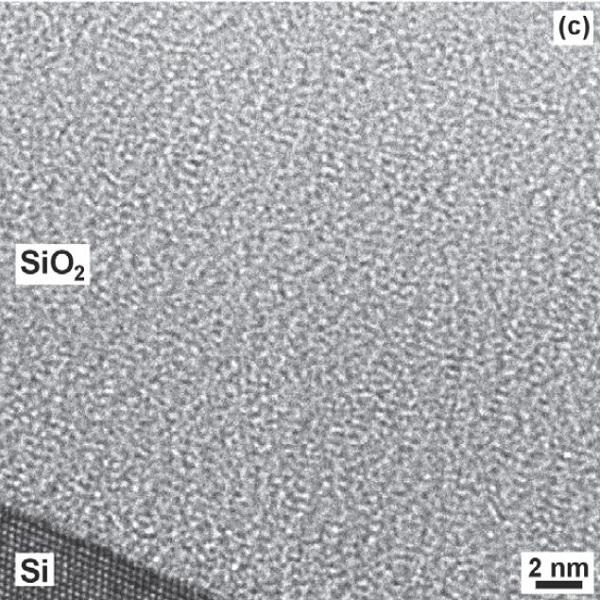 高分辨率TEM观察到的氧化硅/硅结构-丰通丰创